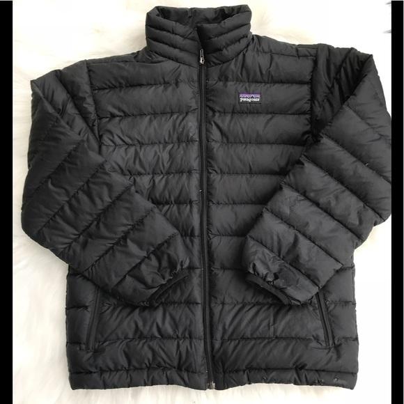 b56090be5 Boys Patagonia nano puffer jacket black 10